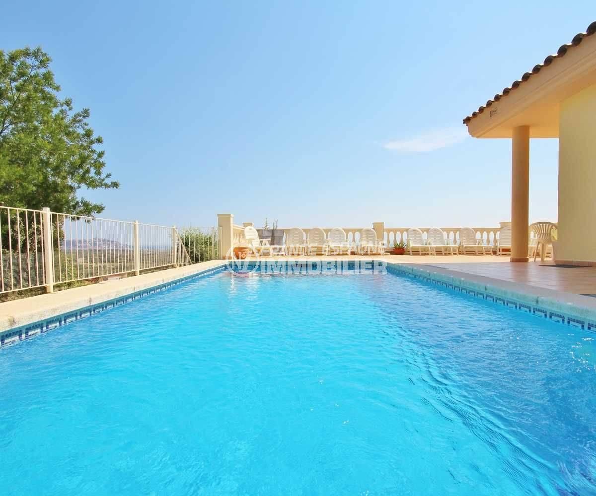 achat immobilier costa brava: villa ref.3501, vue plongeante sur la piscine