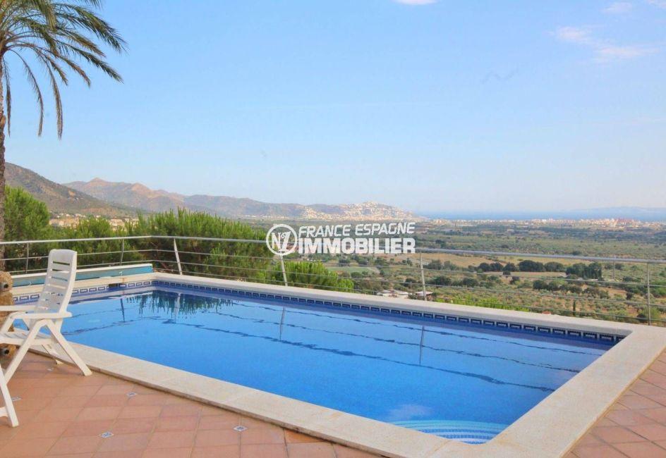 maison costa brava, ref.2364, aperçu de la piscine de 9 m x 4 m, magnifique vue mer