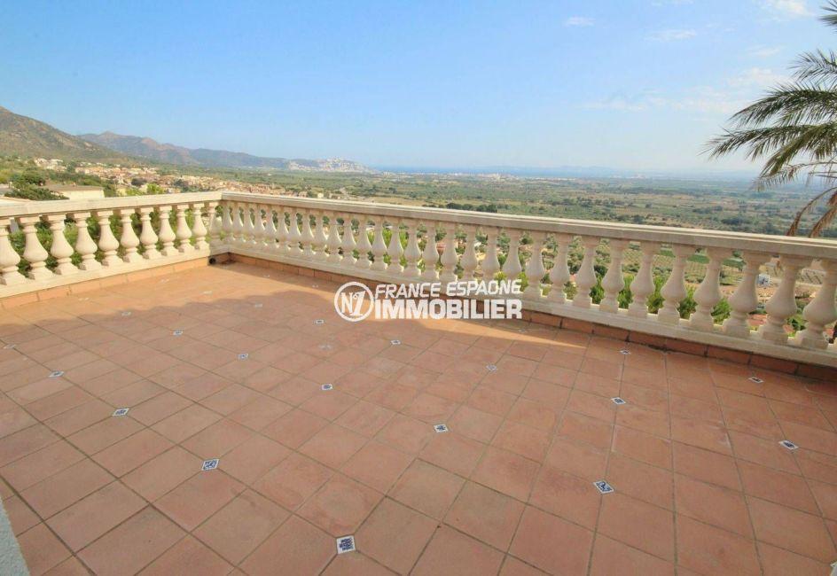 vente maison costa brava, ref.2364, aperçu de la terrasse découverte, vue mer