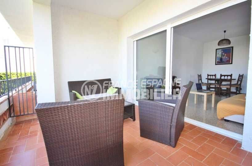 immo llanca: appartement ref.3488, spacieuse terrasse accès séjour