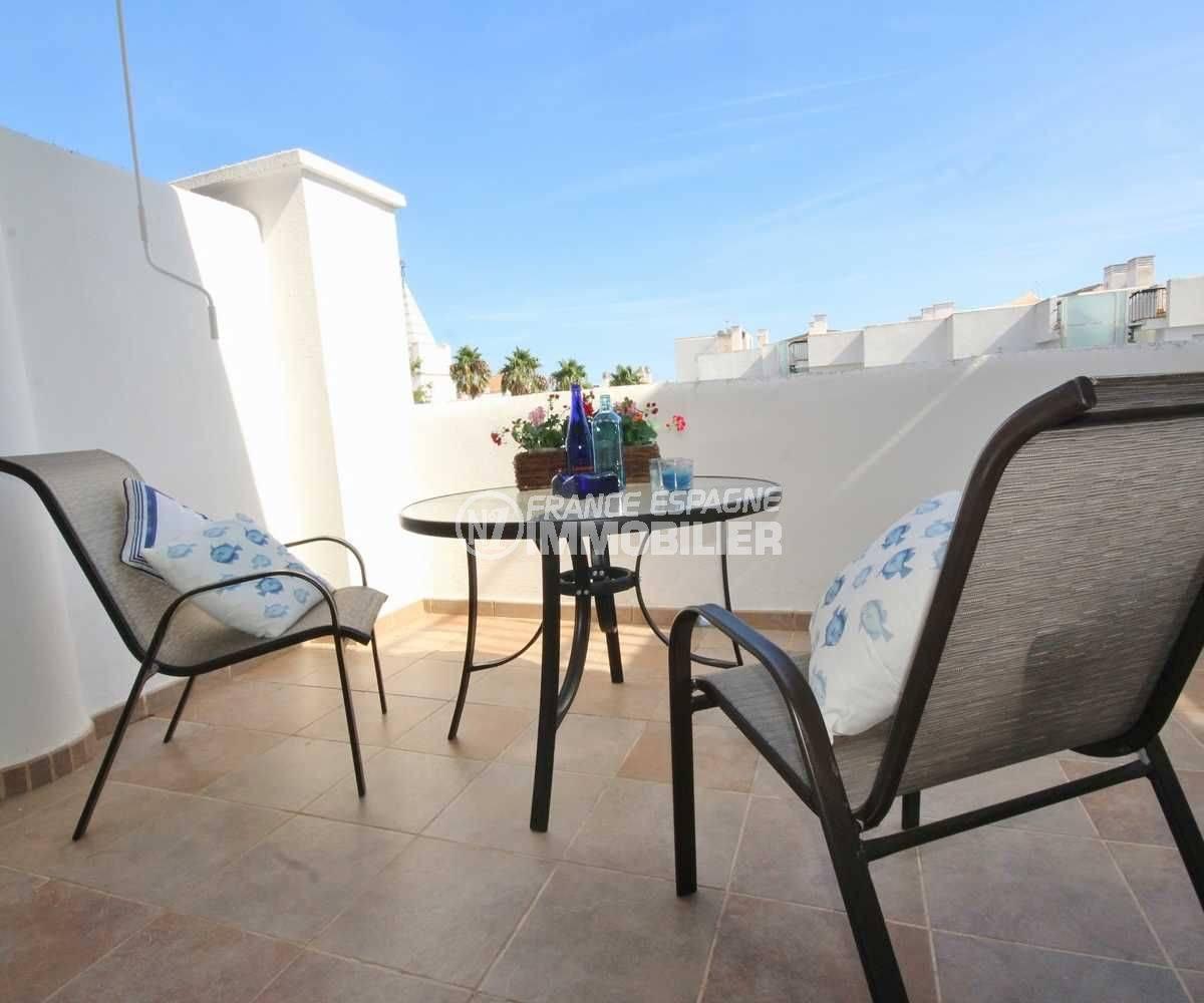 vente appartement espagne costa brava, atico avec solarium 58 m² et piscine