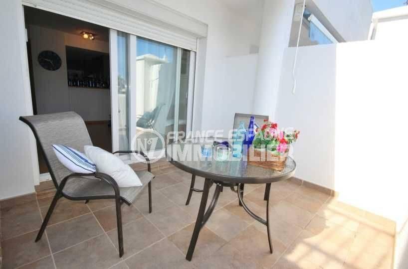 immo espagne costa brava: appartement ref.3497, vue sur la terrasse avec accès salon