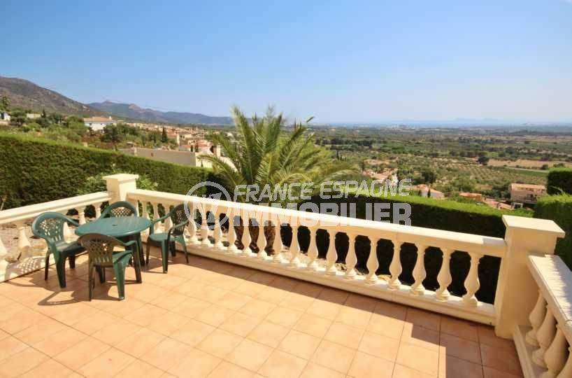 acheter maison costa brava, ref.3501, vue sur la terrasse avec vue mer et montagnes