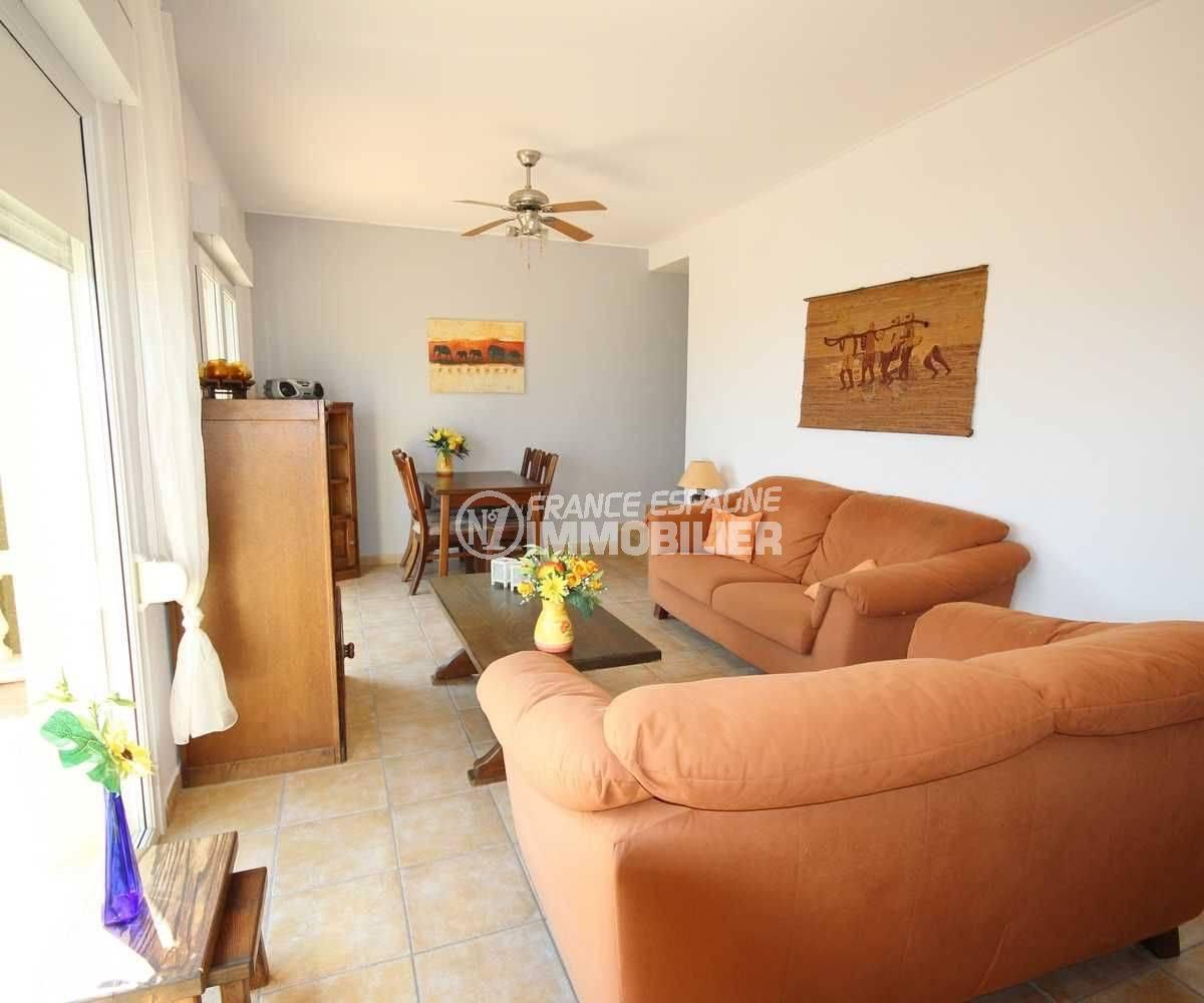 achat maison costa brava bord de mer, ref.3501, salon / séjour avec accès terrasse