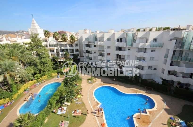 achat appartement costa brava, atico 50 m² avec solarium & piscine