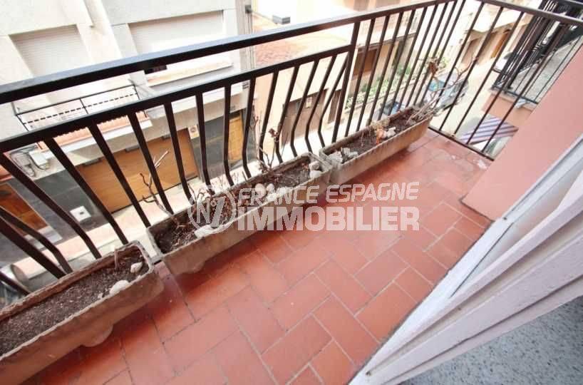 appartement roses, ref.3483, vue sur le deuxième balcon avec accès au salon