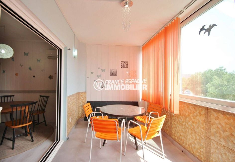 agence immobiliere rosas santa margarita: appartement ref.3493, vue terrasse / véranda