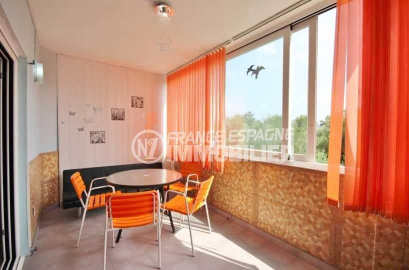vente appartement espagne costa brava,  ref.3493, aperçu terrasse & extérieur