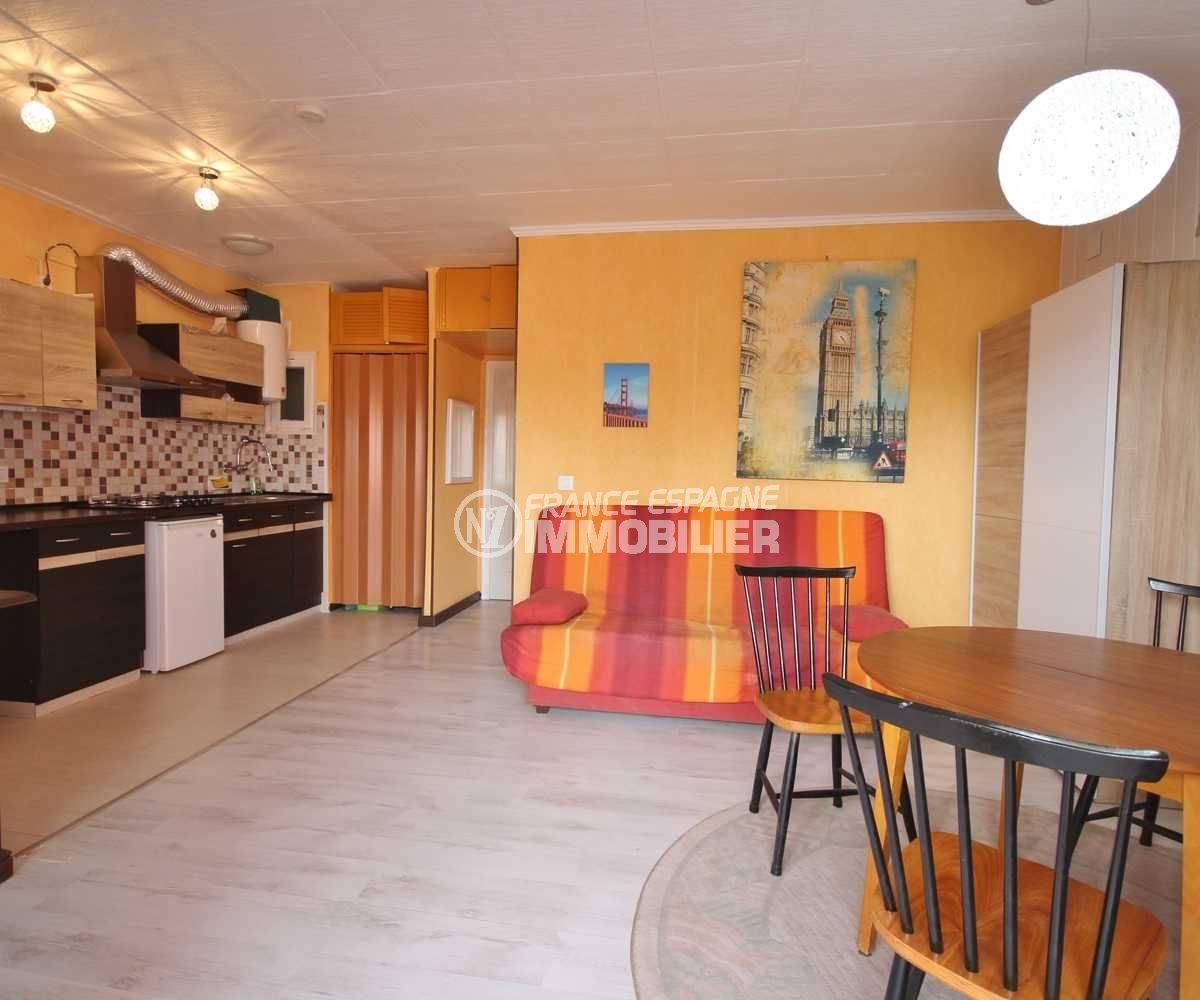 vente appartement rosas,  ref.3493, aperçu général du séjour