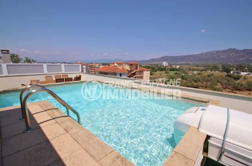 immo costa brava: appartement ref.3482, piscine privée 6 x 5 m, vue montagne et canal
