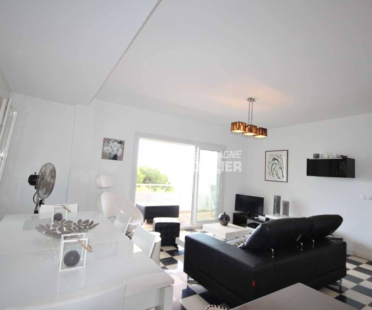 salon/ séjour donnant sur terrasse