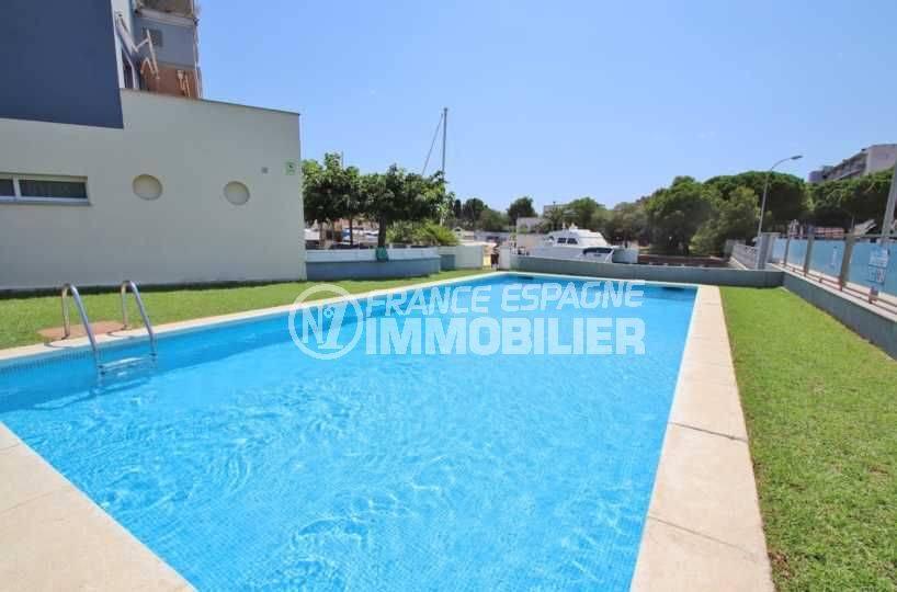vente immobiliere rosas espagne: appartement ref.3482, piscine dans la résidence (en plus de la piscine privée)