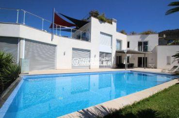 agence immobiliere costa brava: villa haut standing à palau, piscine et garage