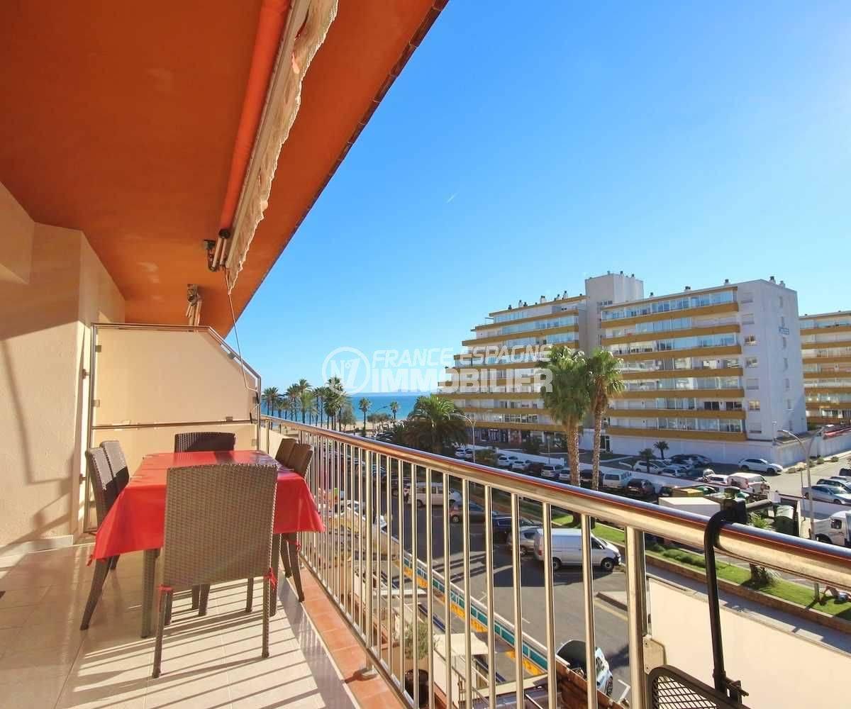 agence immobiliere rosas santa margarita! appartement 58 m² à vendre, 2 chambres, vue mer, plage à 50 m