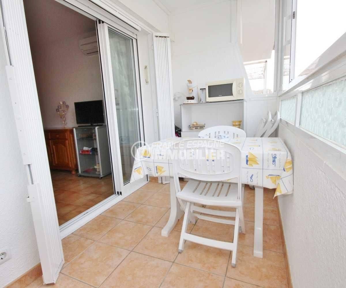 Appartement Rosas pas cher - vue terrasse