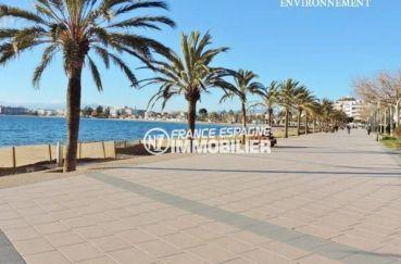 acheter appartement rosas, ref.3517, promenade le long de la plage environnante
