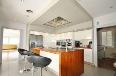 espagne immobilier costa brava: villa 476 m², cuisine donnant sur lingerie, cellier, bodega