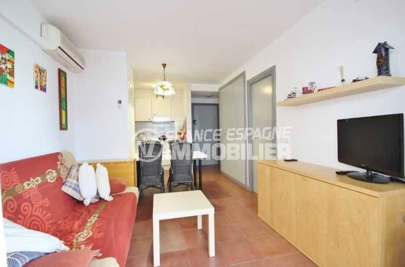 Appartement Santa Margarita Rosas vue salon, salle à manger