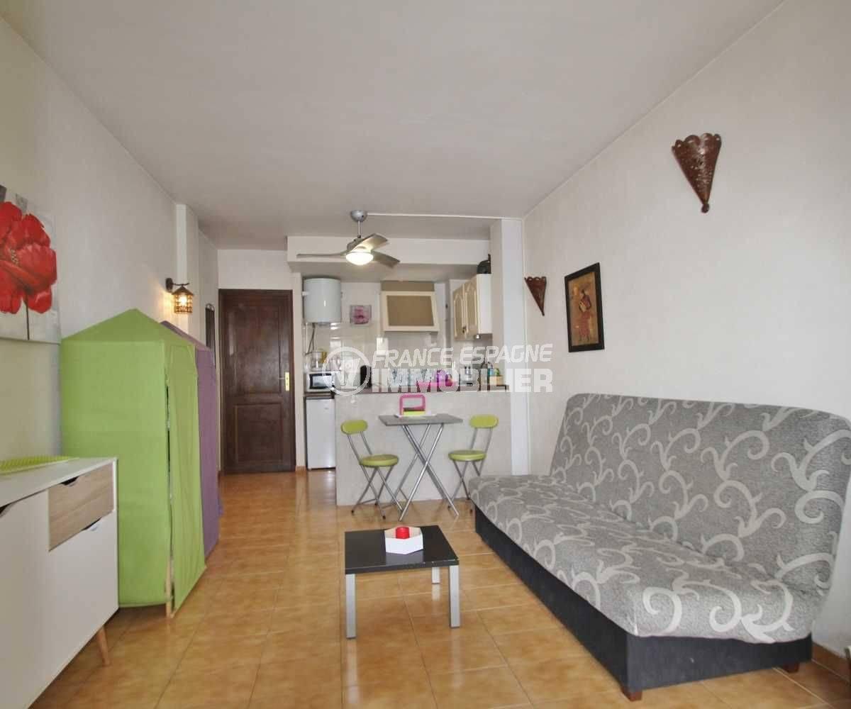 Appartement Empuriabrava vue salon, salle à manger