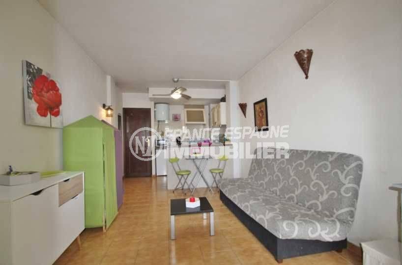 Appartement à Empuriabrava résidence calme, vue séjour
