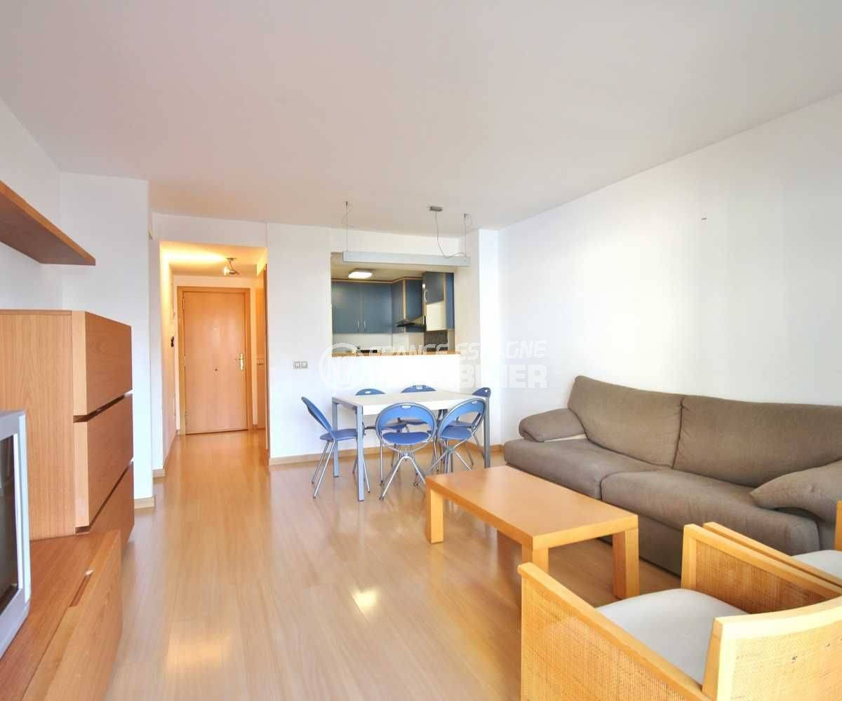 vente appartement santa margarita - vue salon / salle à manger