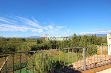 costa brava immobilier: villa 278  m², magnifique vue depuis la terrasse accès salon