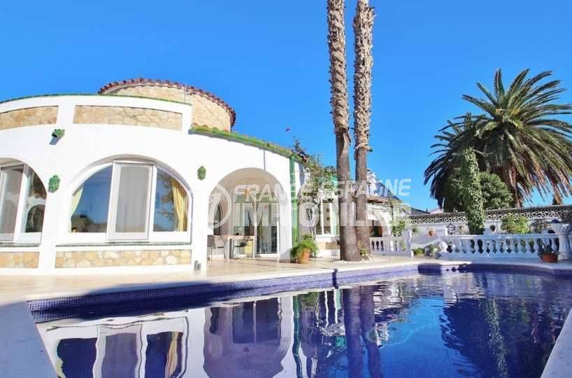 immobilier empuria brava: ref.3566, vue sur la villa de 154 m² avec piscine