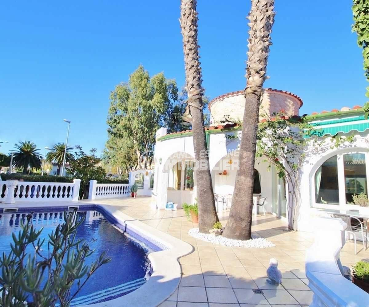 immobilier costa brava: villa ref.3566, terrasse mi-couverte accès salon