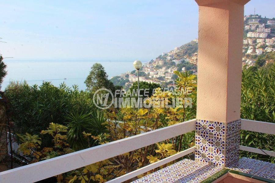 Villa Canyelles terrasse vue mer proche plage