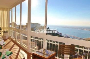 agence immobilière rosas: appartement ref.3102, terrasse vue mer, parking