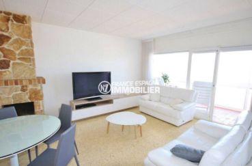 immobilier rosas espagne: appartement ref.3102, séjour / salle à manger accès terrasse