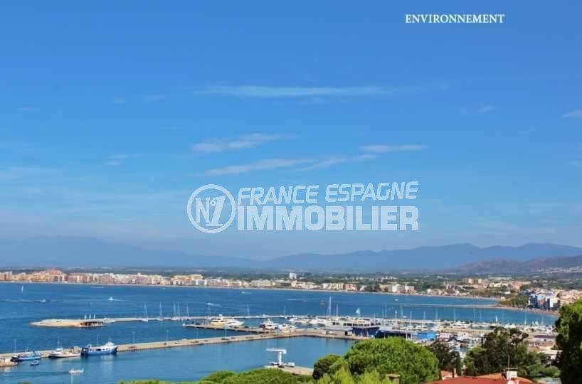 agence immobiliere roses espagne: appartement ref.3102, vue sur le port à proximité