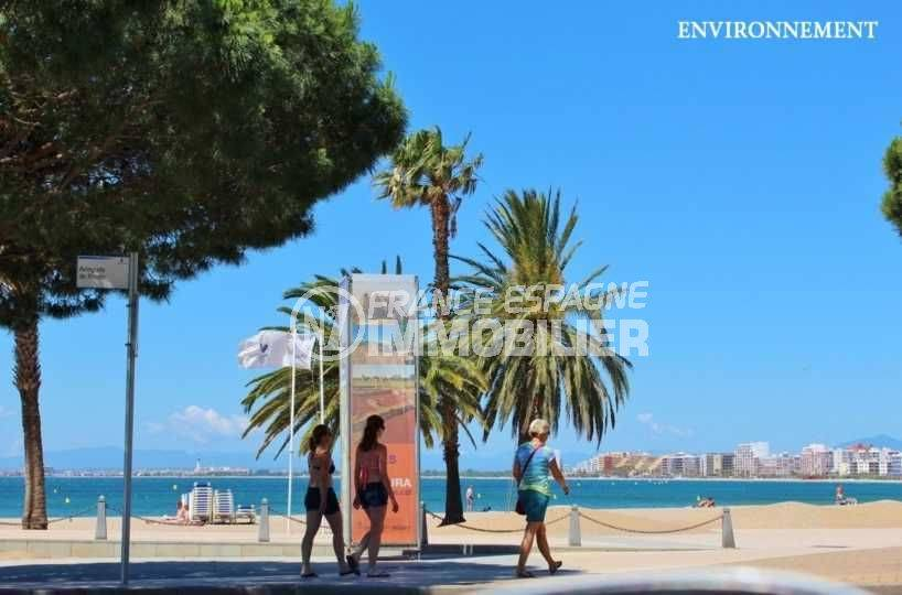 immobilier roses espagne: appartement ref.3102, promenade près de la plage environnante