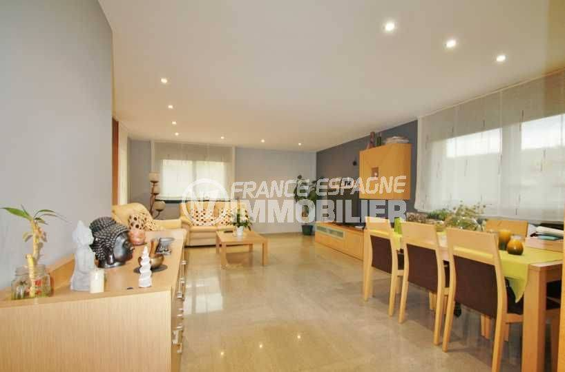 immo costa brava: villa ref.3582, salon / salle à manger avec climatisation réversible