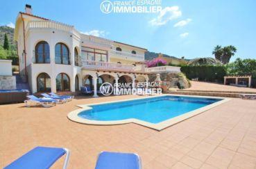 agence immobilière costa brava: villa vue mer, possibilité chambres d'hôtes, piscine