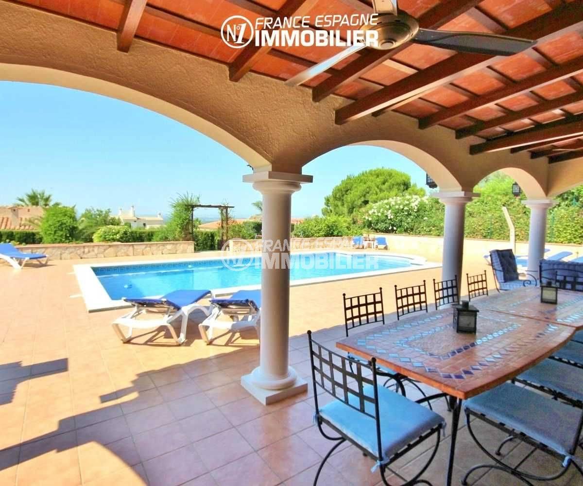 la costa brava: villa de 516 m², aperçu de la piscine 10 m x 5 m, terrasse semi couverte