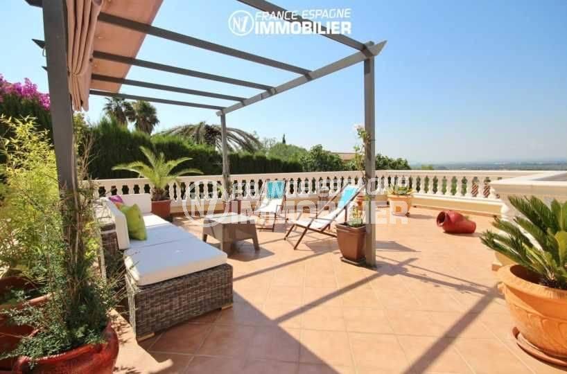achat maison costa brava, proche palau, coin détente avec vue sur la mer