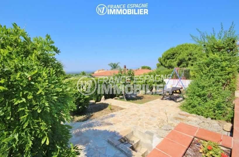 vente maison espagne costa brava, à pau, terrain de 1266 m² arboré et entretenu