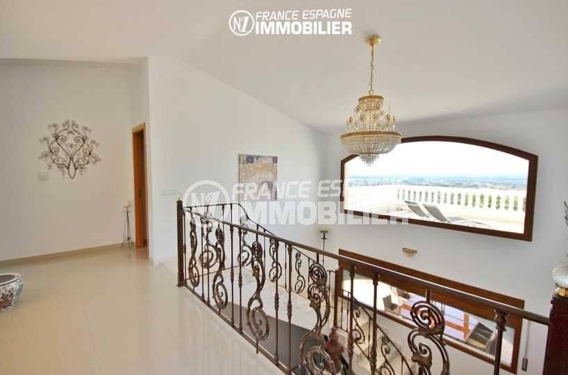 acheter sur la costa brava: villa 516 m², palier du dernier étage vue mer