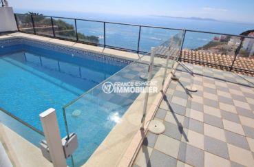 immo rosas: villa 230 m², piscine sécurisée avec jolie vue sur la mer