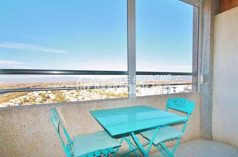 immobilier costa brava: studio ref.3600, terrasse couverte type véranda