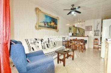 immo empuriabrava: villa 54 m², salon / salle à manger ouverte sur la cuisine