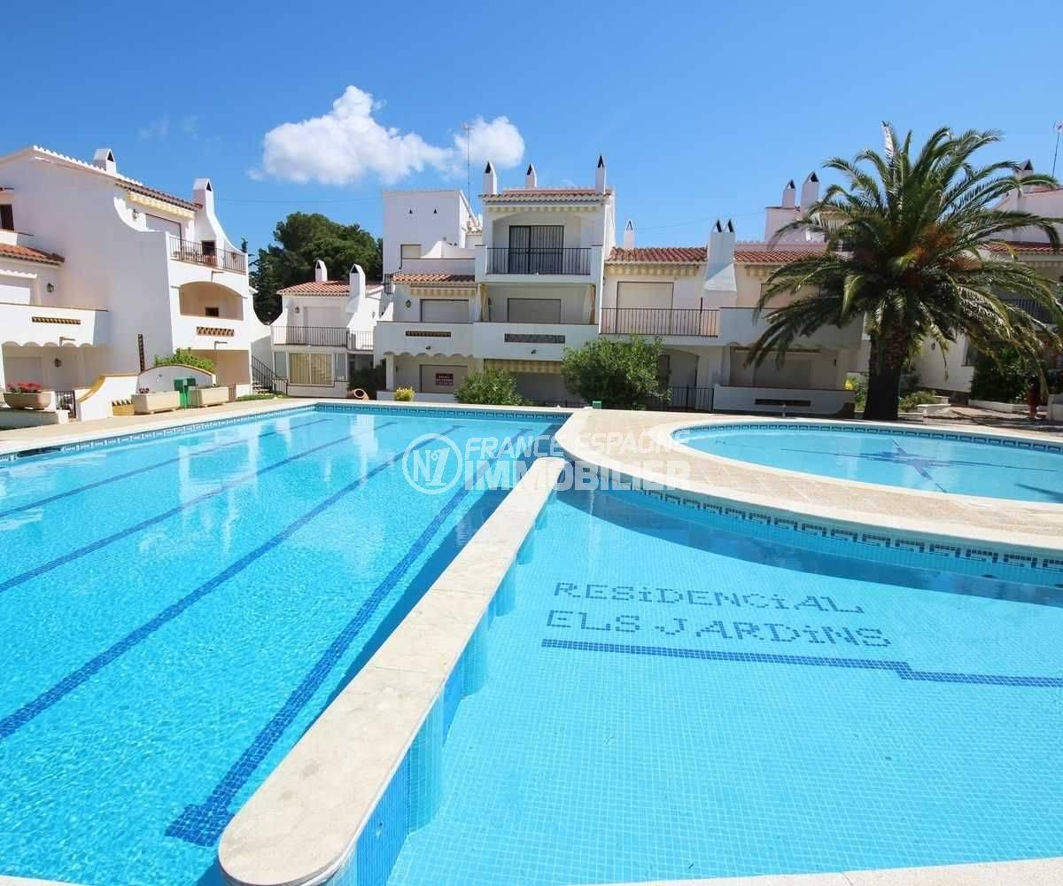 appartement a vendre costa brava prix casse: 42 m², séjour chambre double, piscine & tennis