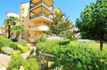 immo espagne costa brava: appartement ref.3559, vue générale l'entrée de la résidence