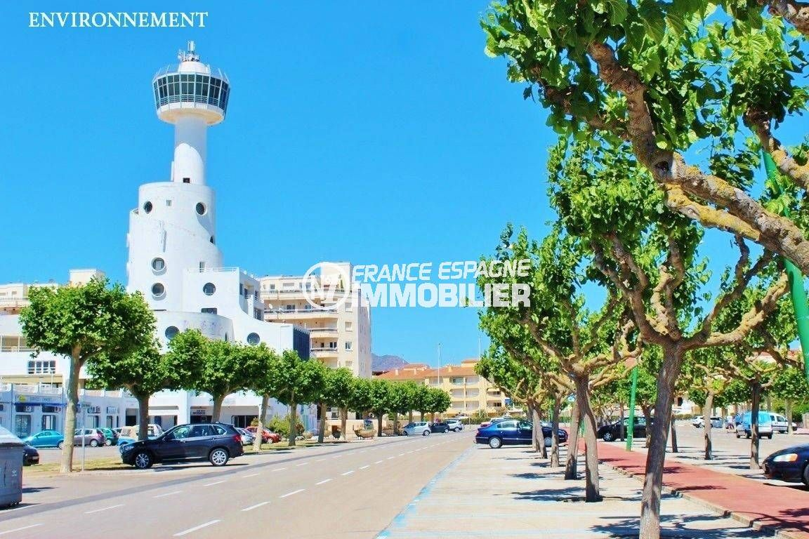 agence immobiliere costa brava: studio ref.3600, promendade le long de la plage à proximité
