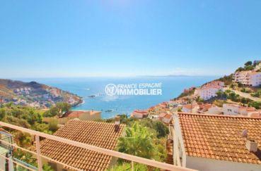vente immobiliere rosas: villa 230 m², vue magnifique mer et montagnes depuis la terrasse