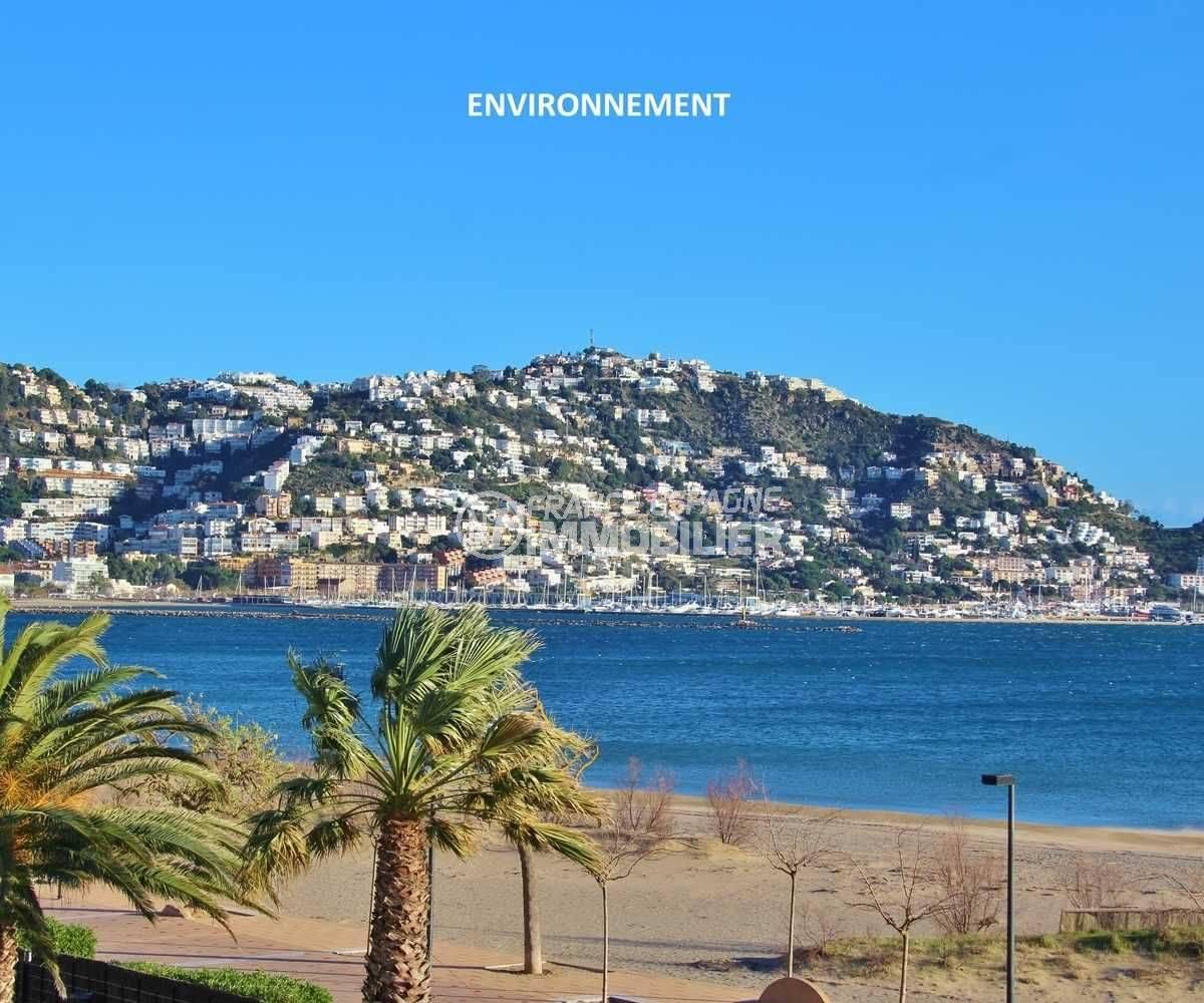 immobilier roses: appartement ref.3598, aperçu Puig Rom depuis la plage