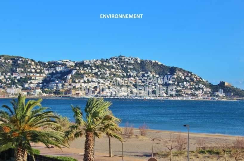 immo espagne costa brava: appartement ref.3579, aperçu de la plage de roses à proximité