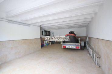 achat maison espagne costa brava, empuriabrava, garage avec place pour 2 voitures