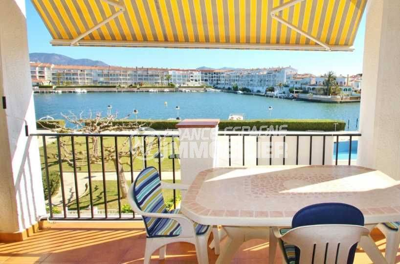 Appartement Empuriabrava vue canal